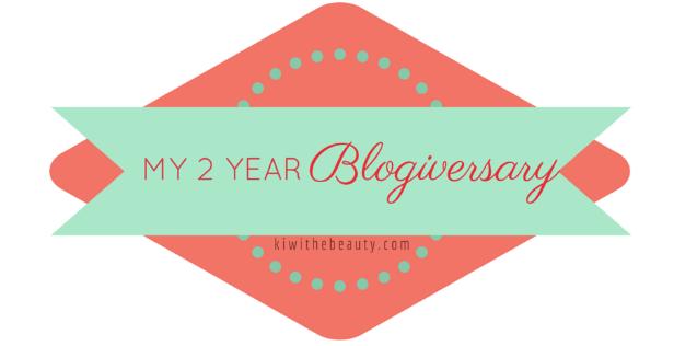 happy blogiversary kiwi the beauty
