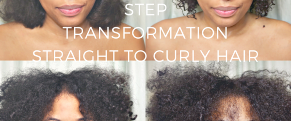 STEP TRANSFORMATIONSTRAIGHT TO CURLY HAIR