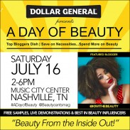 Event Invite (Nashville) | A Day of Beauty presented by Dollar General