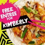 YOUR NAME CAN EQUAL A FREE ENTREE AT TIN DRUM ASIAN KITCHEN